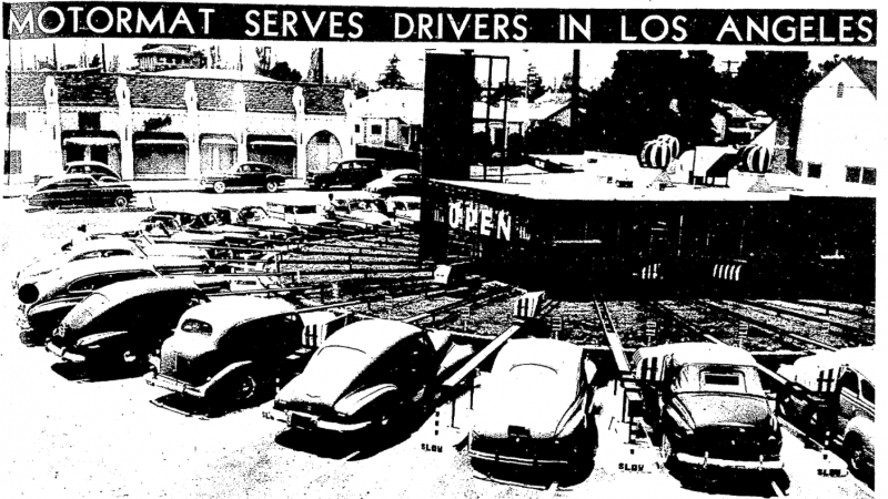 The Track Drive-In, Los Angeles, California, 1949