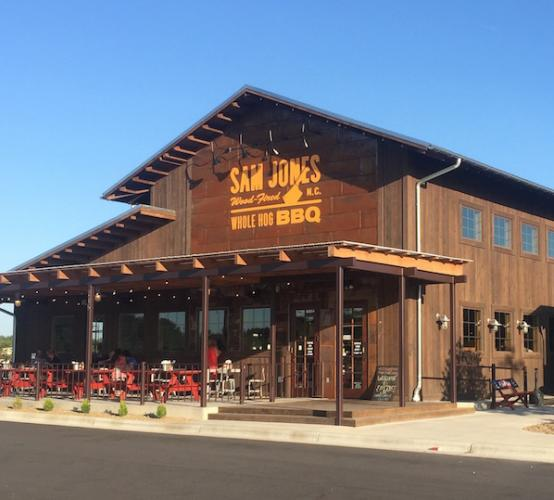 In October 2015, Sam Jones from the famous Skylight Inn barbecue family opened a new 5,500 square foot whole hog restaurant in Winterville