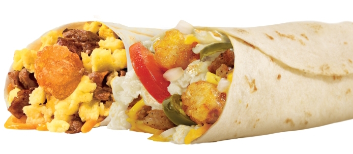 Fast food burrito chains know: egg makes it breakfast